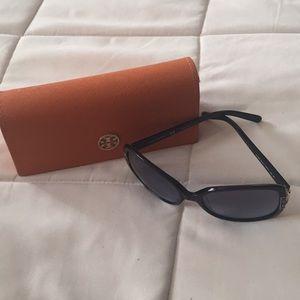 Tory Burch navy blue sunglasses